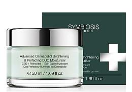 Düfte, Parfümerie und Kosmetik Aufhellende und feuchtigkeitsspendende Gesichtscreme mit Cannabidiol - Symbiosis London Advanced Cannabidiol Brightening & Perfecting DUO Moisturiser