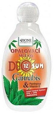 Körper Sonnenschutzmilch - Bione Cosmetics Duo Sun SPF12 Cannabis + Panthenol Sun Lotion