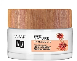 Düfte, Parfümerie und Kosmetik Beruhigende und stärkende Tages- und Nachtcreme gegen Rötungen mit Zaubernuss - AA Enjoy Nature Soothing Cream
