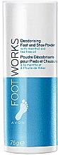 Düfte, Parfümerie und Kosmetik Deo Fuß- und Schuhpuder mit Menthol und Teebaumöl - Avon Foot Works Deodoring Foot and Shoe Powder