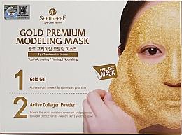 Düfte, Parfümerie und Kosmetik Gesichtspflegeset - Shangpree Gold Premium Plus Modeling Mask (Gesichtsgel 5x50g + Gesichtspuder 5x4,5g)