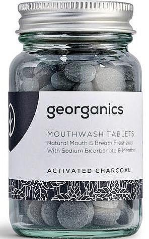Mundwassertabletten mit Aktivkohle - Georganics Mouthwash Tablets Activated Charcoal