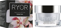 Düfte, Parfümerie und Kosmetik Nachtcreme für das Gesicht mit Kaviarextrakt - Ryor Night Cream With Caviar