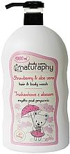 Düfte, Parfümerie und Kosmetik 2in1 Shampoo und Duschgel mit Erdbeere und Aloe Vera - Bluxcosmetics Naturaphy Strawberry & Aloe Vera Hair & Body Wash