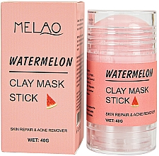 Düfte, Parfümerie und Kosmetik Regenerierender Anti-Akne Gesichtsmaske-Stick mit Tonerde und Wassermelonenduft - Melao Watermelon Clay Mask Stick