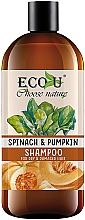 Düfte, Parfümerie und Kosmetik Shampoo mit Kürbis und Spinat für trockenes und strapaziertes Haar - Eco U Pumpkins And Spinach Shampoo