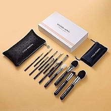Düfte, Parfümerie und Kosmetik Make-up Pinselset Helles Silber - Eigshow Beauty Makeup Brush Master Light Gun Black