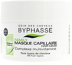 Düfte, Parfümerie und Kosmetik Nährende Haarmaske für mehr Glanz mit Multivitamin-Komplex - Byphasse Family Multivitamin Complexe Mask