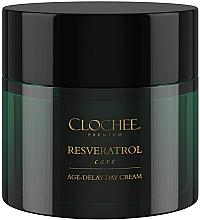 Düfte, Parfümerie und Kosmetik Anti-Aging Tagescreme für das Gesicht mit Resveratrol und Vitaminen - Clochee Premium Age-Delay Day Cream