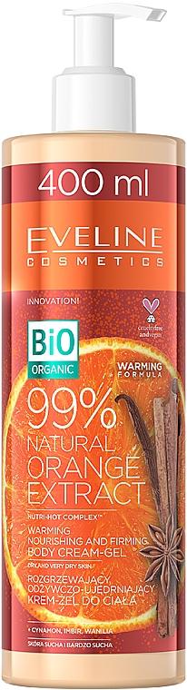 Wärmendes, nährendes und straffendes Körpercreme-Gel mit 99% natürlichem Orangenextrakt für trockene und sehr trockene Haut - Eveline Cosmetics Bio Organic 99% Natural Orange Extract