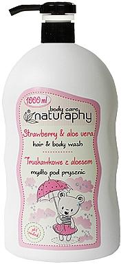 2in1 Shampoo und Duschgel mit Erdbeere und Aloe Vera - Bluxcosmetics Naturaphy Strawberry & Aloe Vera Hair & Body Wash