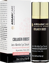Düfte, Parfümerie und Kosmetik Anti-Falten Augenserum mit Hyaluronsäure, Kollagen und Arganöl - Arganicare Collagen Boost Anti Wrinkle Eye Serum