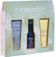 Düfte, Parfümerie und Kosmetik Körper- und Gesichtspflegeset - Melvita (Duschgel 30ml + Gesichtswasser 28ml + Gesichtsgel 30ml)