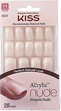 Düfte, Parfümerie und Kosmetik Künstliche Fingernägel inkl. Kleber French - Kiss Salon Acrylic Nude Nails Cashmere