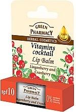 "Düfte, Parfümerie und Kosmetik Lippenbalsam ""Preiselbeere und Moosbeere"" - Green Pharmacy Lip Balm With Lingonberry And Cranberry"