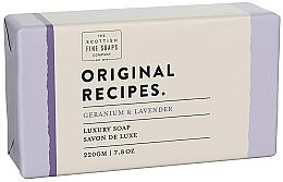 Düfte, Parfümerie und Kosmetik Luxuriöse Seife mit Geranium und Lavendel - Scottish Fine Soaps Original Recipes Geranium & Lavender Luxury Soap Bar