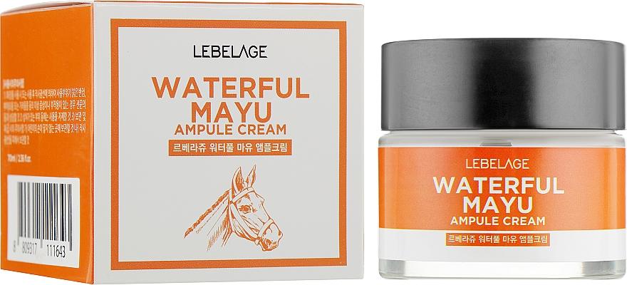 Gesichtscreme mit Pferdeölextrakt - Lebelage Waterful Mayu Ampule Cream