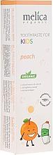 Düfte, Parfümerie und Kosmetik Kinder-Zahnpasta Pfirsich - Melica Organic Toothpaste For Kids Peach