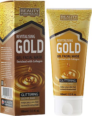 Peeling-Waschmaske - Beauty Formulas Gold Gel Facial Mask