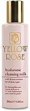 Düfte, Parfümerie und Kosmetik Gesichtsreinigungsmilch mit Hyaluron und Blütenextrakten - Yellow Rose Hyaluronic Cleansing Milk