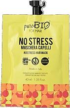 Düfte, Parfümerie und Kosmetik Intensiv pflegende Anti-Stress Maske für coloriertes und geschädigtes Haar - puroBIO Cosmetics For Hair No Stress Mask