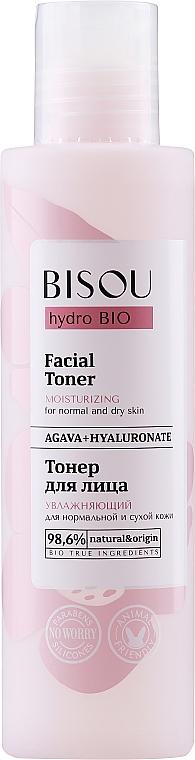Feuchtigkeitsspendendes Gesichtstonikum mit Agave und Hyaluronsäure - Bisou Hydro Bio Facial Toner