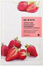 Düfte, Parfümerie und Kosmetik Pflegende Tuchmaske für das Gesicht mit Erdbeeren - Mizon Joyful Time Essence Mask Strawberry