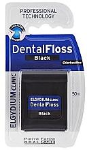 Düfte, Parfümerie und Kosmetik Zahnseide schwarz 50 m - Elgydium Clinic Dental Floss