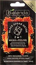 Düfte, Parfümerie und Kosmetik Peelingmaske 2in1 Detox und Reinigung - Bielenda Black Sugar Detox (Mini)