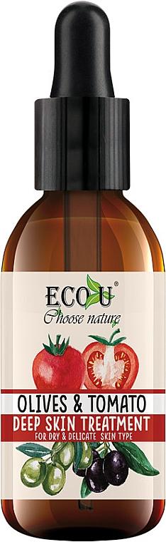 Intensives Gesichtsserum für trockene und empfindliche Haut Oliven und Tomaten - Eco U Face Serum