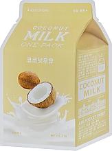 Düfte, Parfümerie und Kosmetik Gesichtsmaske mit Kokosnuss-Extrakt - A'pieu Coconut Milk One-Pack