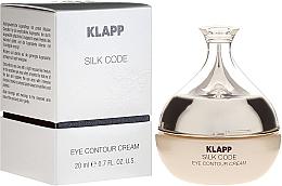 Düfte, Parfümerie und Kosmetik Pflegende Augenkonturcreme mit Seidenprotein und Hyaluronsäure - Klapp Silk Code Eye Contour Cream