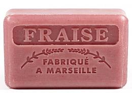 Düfte, Parfümerie und Kosmetik Handgemachte Naturseife mit Erdbeerduft und Sheabutter - Foufour Savonnette Marseillaise Fraise