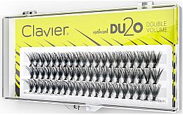 Düfte, Parfümerie und Kosmetik Künstliche Wimpernbüschel für doppeltes Volumen 12 mm - Clavier DU2O Double Volume