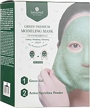 Düfte, Parfümerie und Kosmetik Feuchtigkeitsspendende, nährende und reinigende Tuchmaske für das Gesicht mit Spiruline Powder - Shangpree Green Premium Modeling Mask