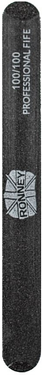 Nagelfeile 100/100 gerade schwarz - Ronney Professional