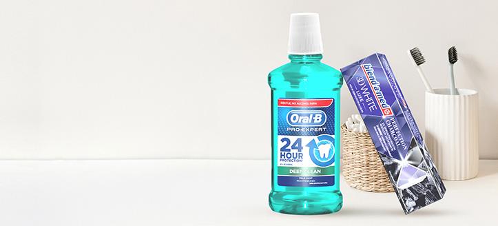 Beim Kauf von Produkten der Marken Blend-a-med, Blend-A-Dent und Oral-B ab 6 € erhalten Sie eine Zahnpasta geschenkt