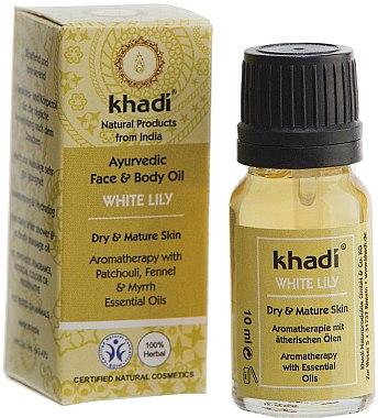 """Ayurvedisches Gesichts- und Körperöl """"Weiße Lilie"""" - Khadi — Bild N3"""