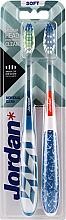 Düfte, Parfümerie und Kosmetik Zahnbürste weich Individual Clean blau-weiß mit einem Muster, weiß-blau mit Ankern 2 St. - Jordan Individual Clean Soft