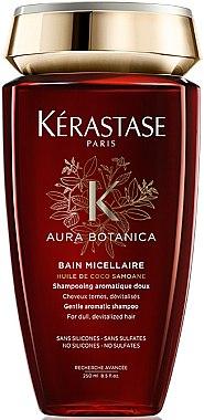 Mizellenshampoo für stumpfes und devitalisiertes Haar mit samoanischem Kokosnussöl und marokkanischen Arganölen - Kerastase Aura Botanica Bain Micellaire Shampoo
