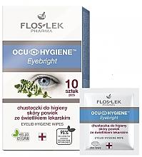 Düfte, Parfümerie und Kosmetik Reinigende Feuchttücher für die Augenlider mit Augentrost - Floslek Eyebright Eyelid Hygiene Wipes