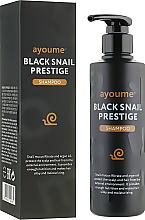 Düfte, Parfümerie und Kosmetik Schützendes Shampoo mit Schneckenschleimfiltrat und Arganöl - Ayoume Black Snail Prestige Shampoo