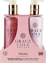 Düfte, Parfümerie und Kosmetik Handpflegeset - Grace Cole Warm Vanilla & Sandalwood (Flüssige Handseife 300ml + Handlotion 300ml)