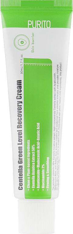 Beruhigende Gesichtscreme mit Centella - Purito Centella Green Level Recovery Cream