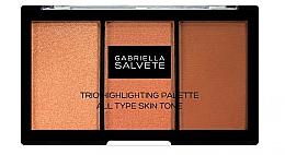 Düfte, Parfümerie und Kosmetik Highlighter-Palette - Gabriella Salvete Trio Highlighting Palette