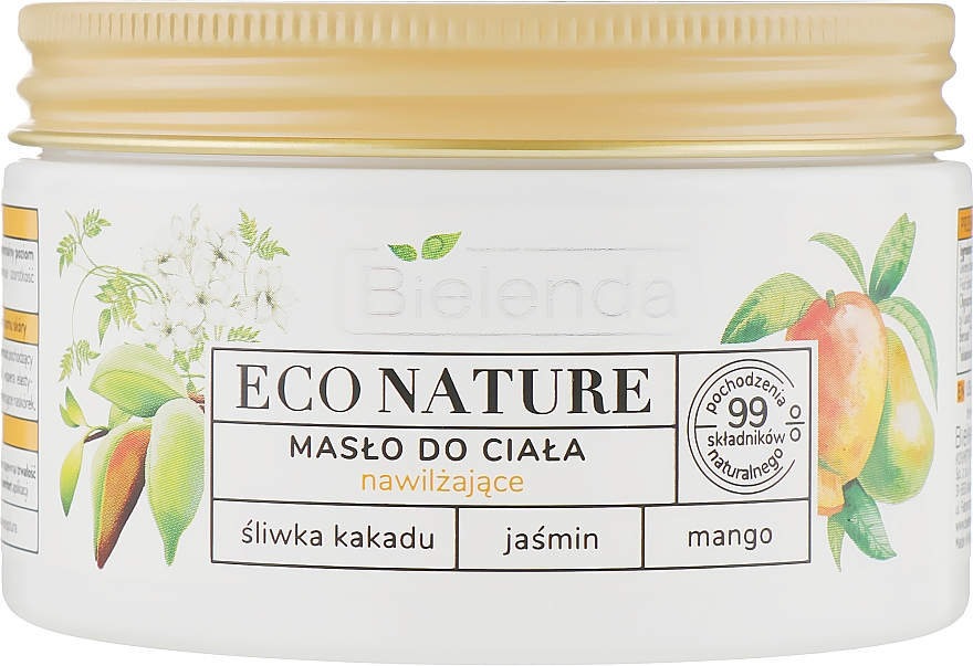 Feuchtigkeitsspendendes Körperöl mit Buschpflaume, Jasmin und Mango - Bielenda Eco Nature Kakadu Plum, Jasmine and Mango