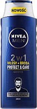 "2in1 Shampoo und Haarspülung ""Protect & Care"" - NIVEA Men 2in1Protect & Care Shampoo — Bild N1"