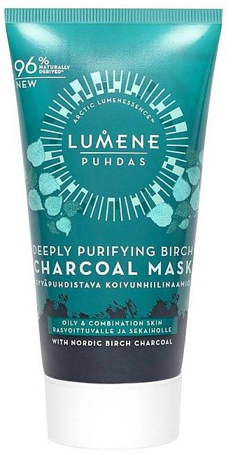 Tiefenreinigende Gesichtsmaske mit Birkenkohle - Lumene Puhdas Deeply Purifying Birch Charcoal Mask