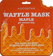 Düfte, Parfümerie und Kosmetik Revitalisierende und feuchtigkeitsspendende Waffel-Tuchmaske mit Zuckerahorn-Extrakt für strahlende Gesichtshaut - Kocostar Maple Waffle Mask