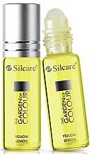 Düfte, Parfümerie und Kosmetik Nagelhaut- und Nagelöl mit gelber Zitrone - Silcare The Garden of Colour Cuticle Oil Roll On Lemon Yellow